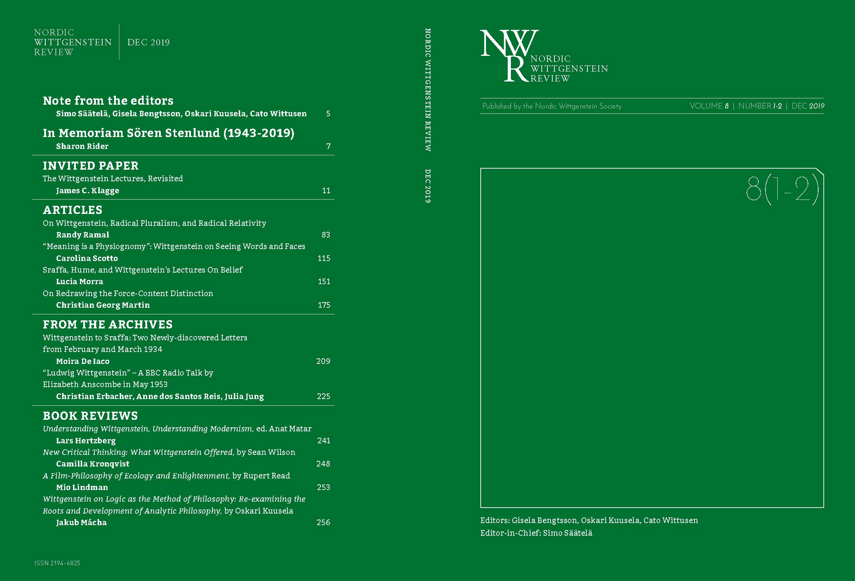 Cover image Volume 8 No. 1-2